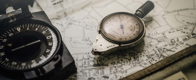 compass picture to represent geography lesson for organsations